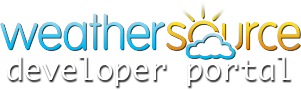 Weather Source Developer Portal